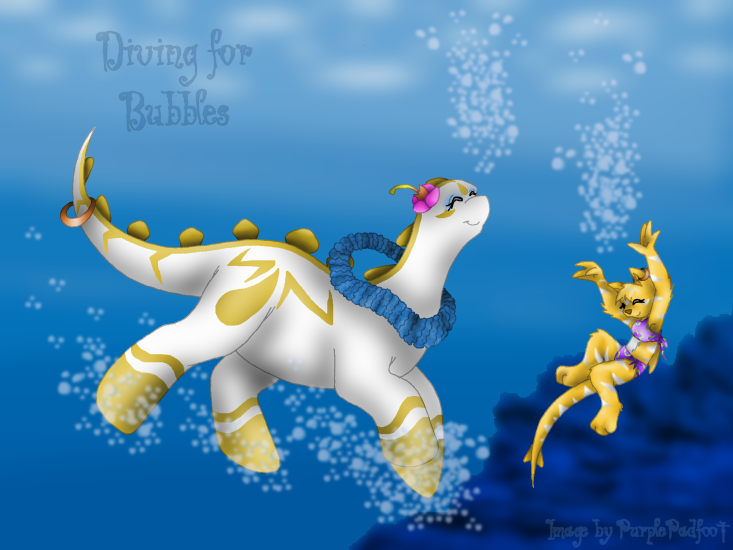 Diving for Bubbles -Lani- by RoseSagae