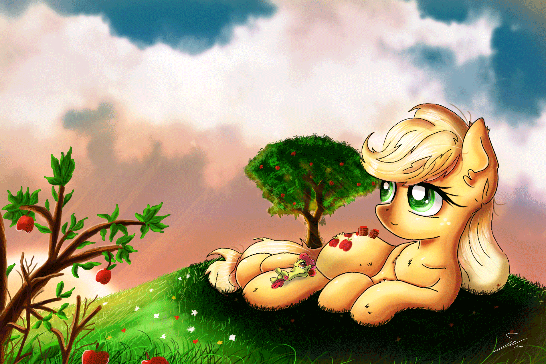 Relaxing Apple Sisters by Shogundun