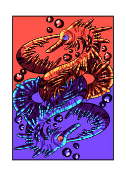 [Inktober] Day 6: Aquatic dragon card