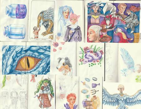 March to April Sketchbook Compilation