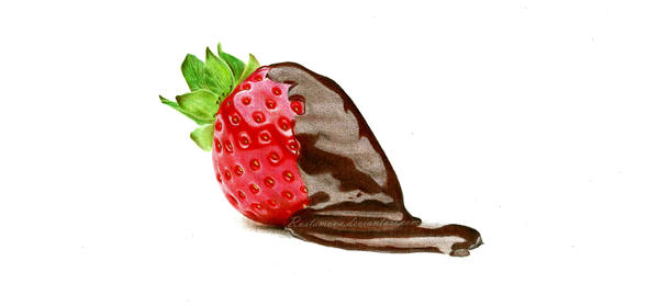 Strawberry. Drawing in pencil by Rustamova
