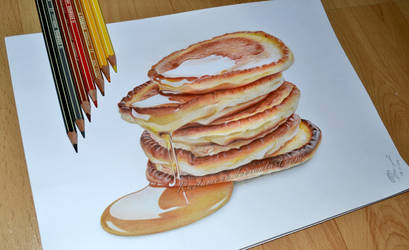 Pancakes and honey by Rustamova