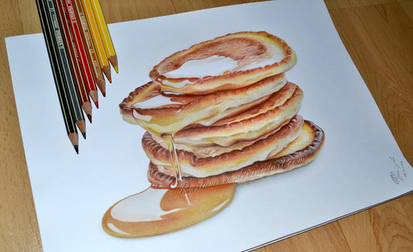 how to draw a realistic cake
