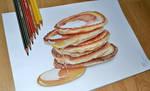 Pancakes and honey