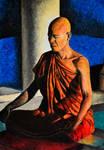 Meditation in oil pastel by Rustamova