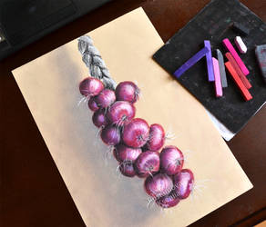 Soft pastel, onions by Rustamova