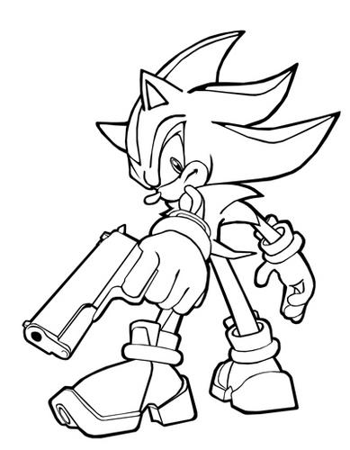 shadow hedgehog coloring pages - hedgehog coloring pages