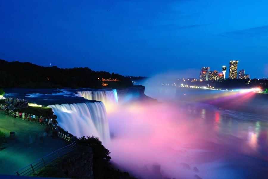 The Falls at Night by Manbehindthelens