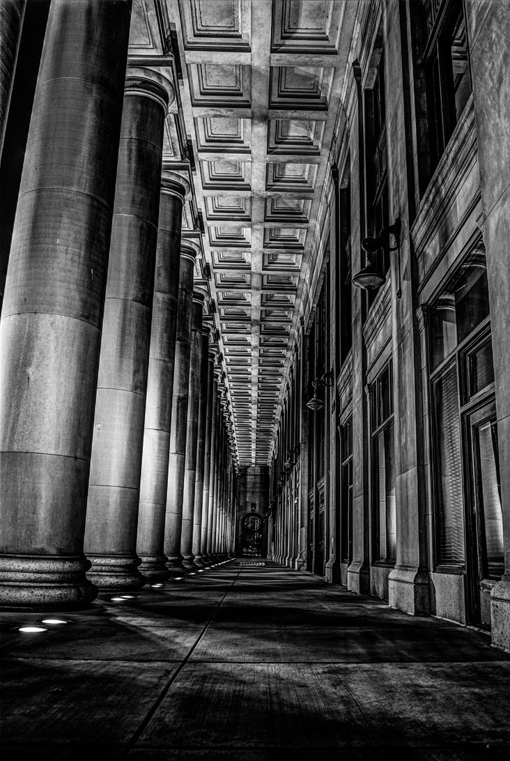 Vertical Columns by Manbehindthelens