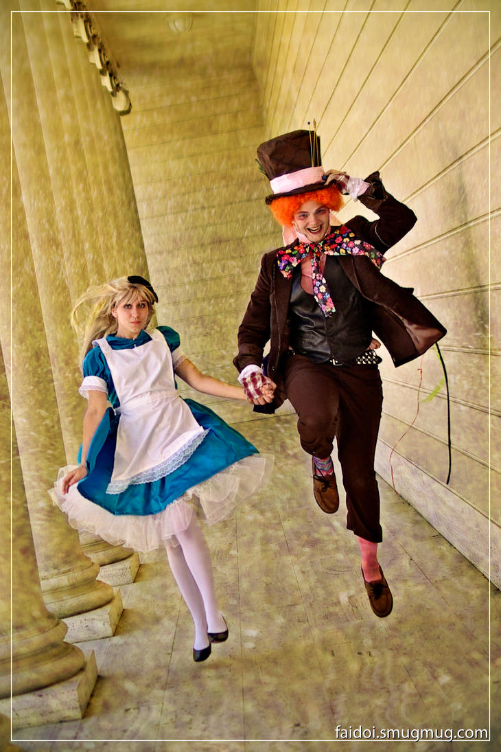 Alice and the Mad Hatter by faidoi