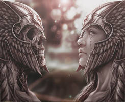 Valkyrie and Undead by ARTofSCS