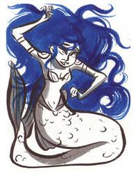 Inktober Mermaid 04