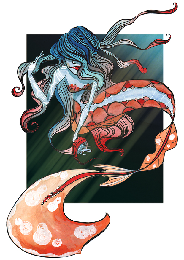 Sirene rouge bleu by Ztoical