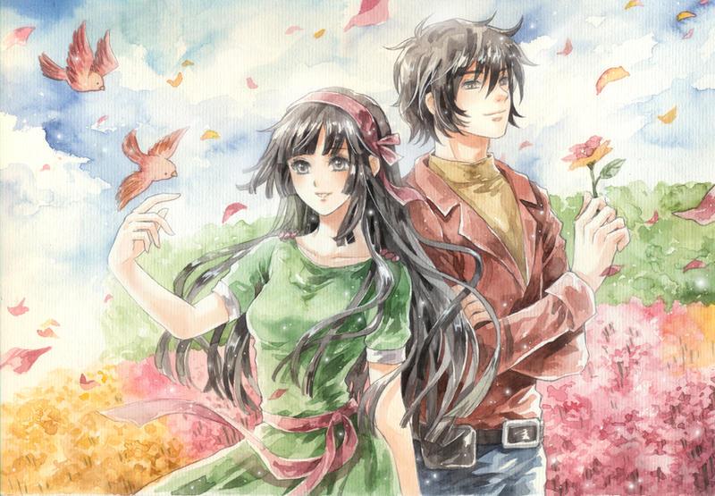 Com: Wind on Flower Field by meodualeo