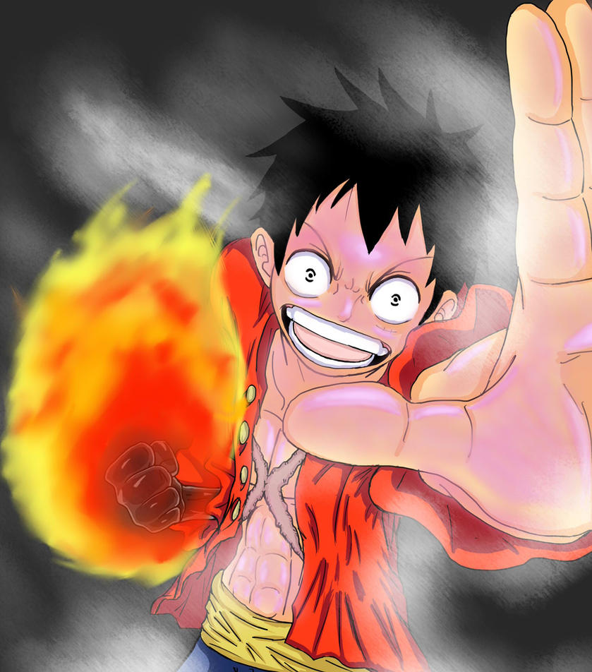 Monkey D. Luffy - Red Hawk by Serj-Tankian-Fan09