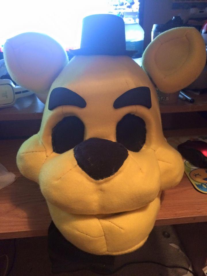 Golden Freddy - fursuit head by Serj-Tankian-Fan09