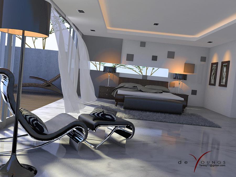 MINIMALIST BEDROOM, CONCEPTUAL by TANKQ77