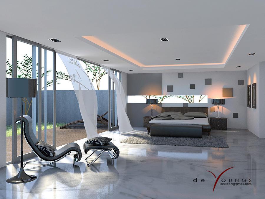 MINIMALIST BEDROOM ANGLE 2 by TANKQ77