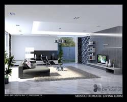 MONOCHROMATIC LIVING ROOM 2 by TANKQ77