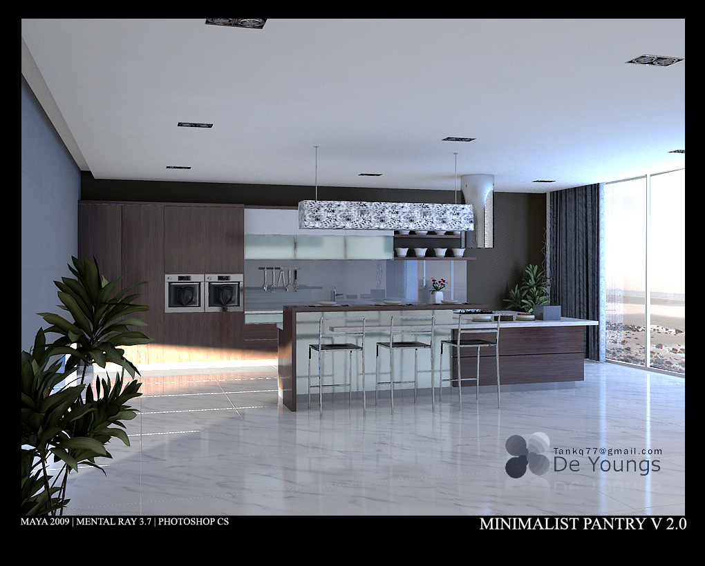 Minimalist pantry v 2 0 1 by tankq77 on deviantart for Minimalist pantry design