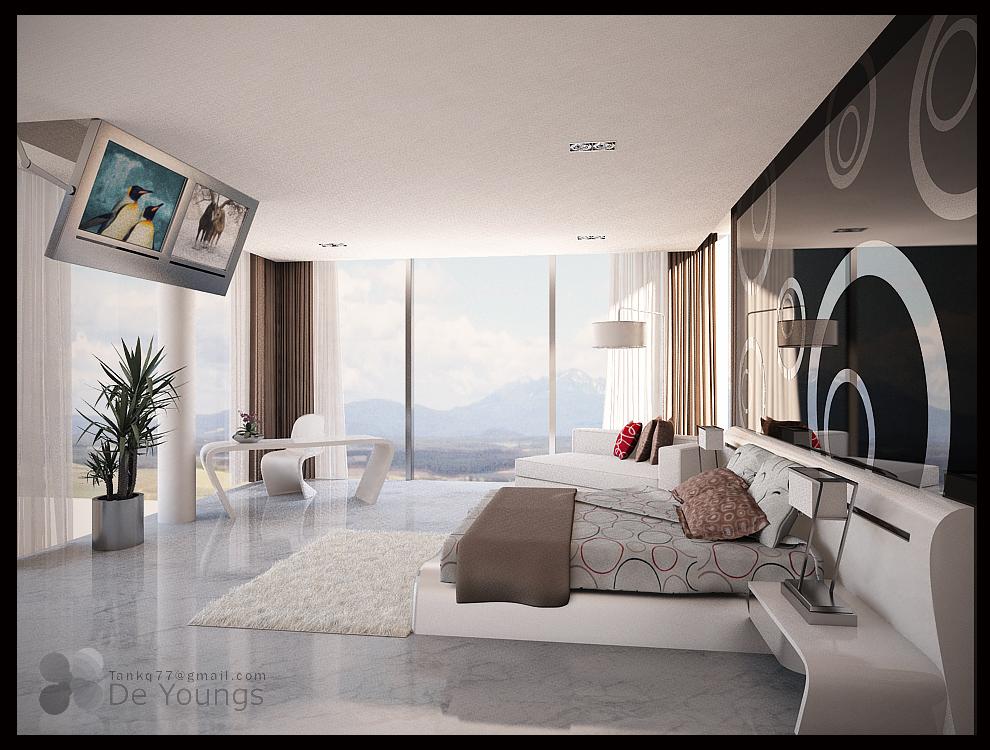 Condo master bedroom 1 by tankq77 on deviantart for Condo bedroom design