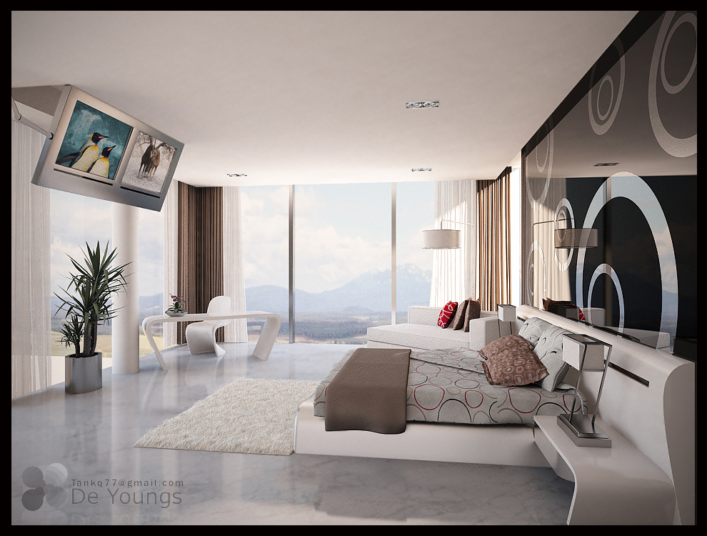Condo master bedroom 1 updated by tankq77 on deviantart 1 bedroom condo design