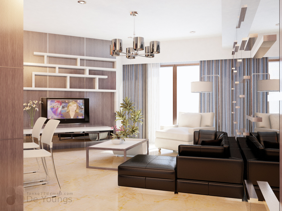SMALL APARTMENT LIVING ROOM by TANKQ77