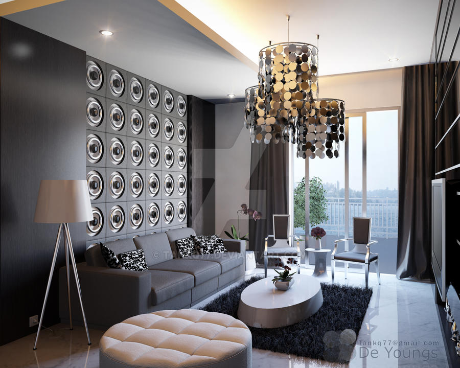 interesting black gray living room ideas | GUEST LIVING ROOM, CHINA by TANKQ77 on DeviantArt