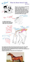 How to draw horse tail