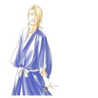 Smiling Izuru by Elruu
