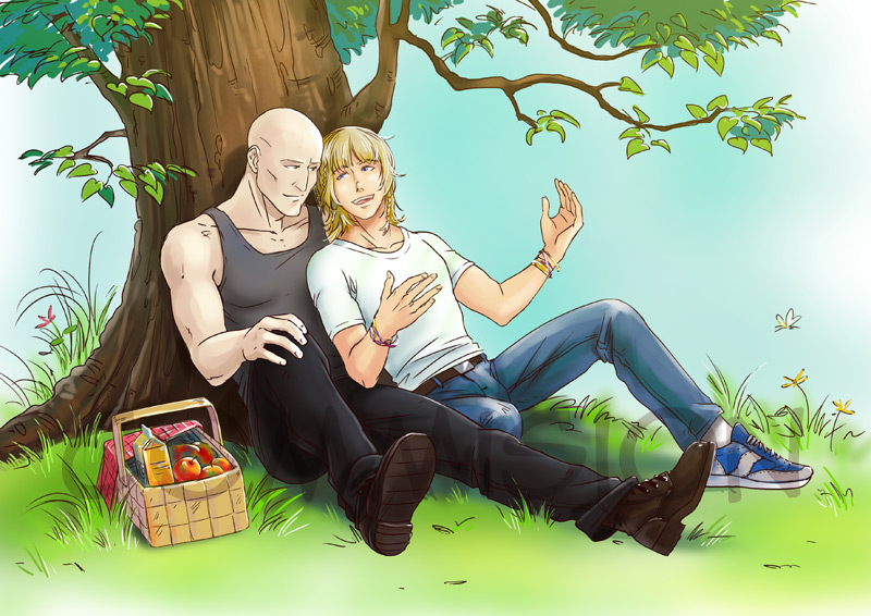 Commission: Picnic by Elruu