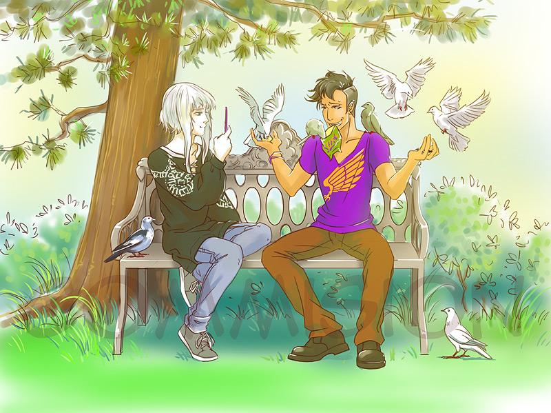 Commission: pigeons by Elruu