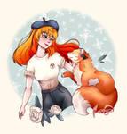 DIYS - Girl and Fox