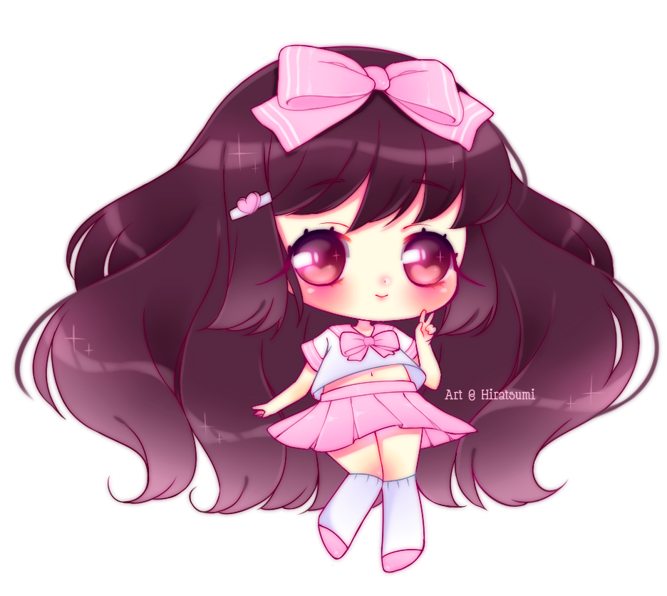 simple chibi   cute girl by hiratsumi on deviantart