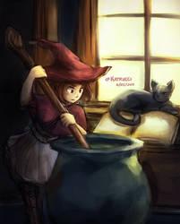 Uraraka's Witchy Workshop by katrucci