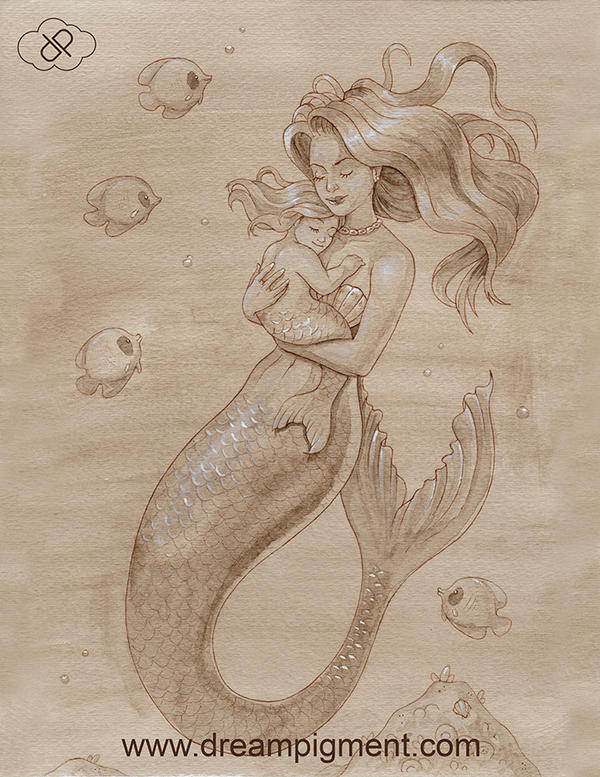Mother Mermaid by DreamPigment