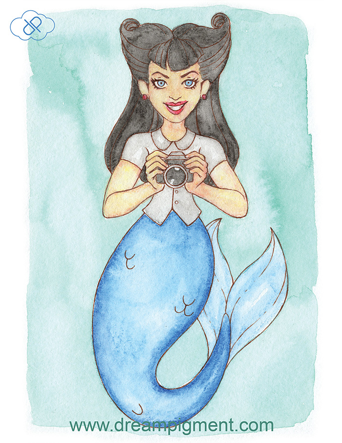 Camera Mermaid - MerMonday September 10th 2018 by DreamPigment