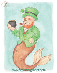 Leprechaun Mermaid - MerMonday March 18th 2019 by DreamPigment