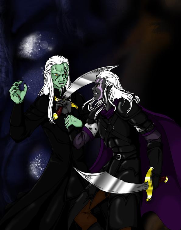 Wraith vs Drow by Sizura