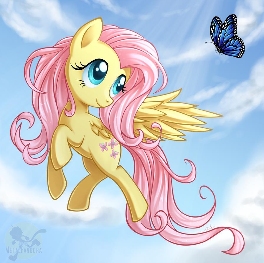 Butterfly Fluttershy by MetalPandora