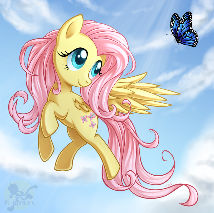 Butterfly Fluttershy by MetalPandora