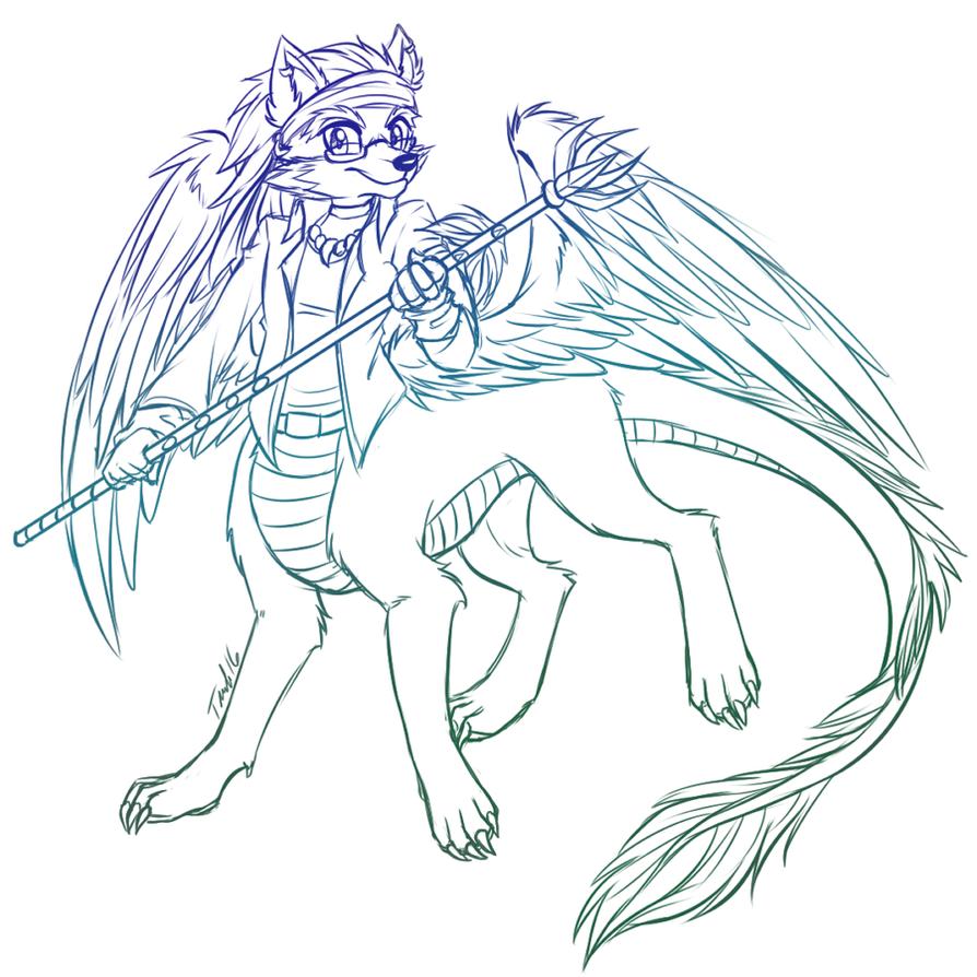 Com: Dragonheart taur by MetalPandora