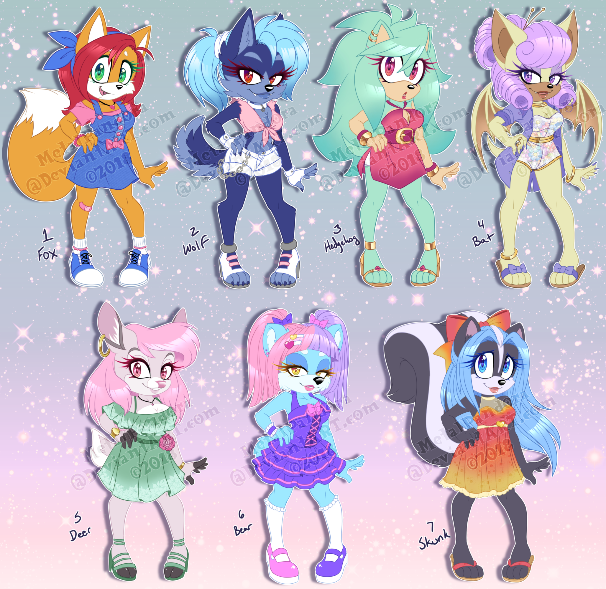ADOPT: Summer girls (OPEN 1/7) by MetalPandora