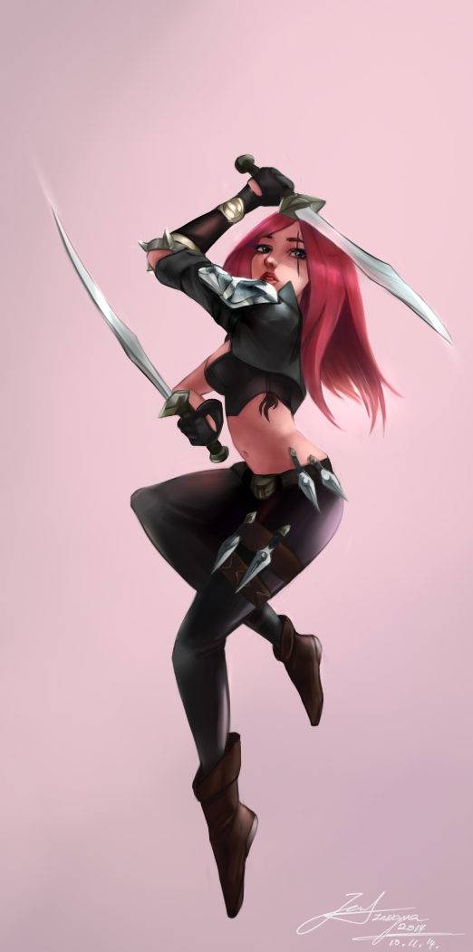 Flurry of Blades - Katarina by spectra6234