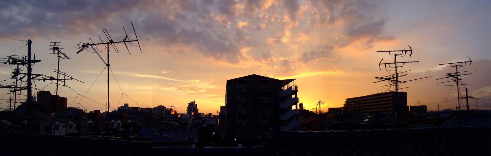 Sunset Panorama in Japan