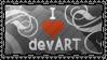 I heart deviantART stamp by DeviantSith