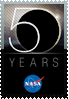 NASA 50th Anniversary stamp by DeviantSith
