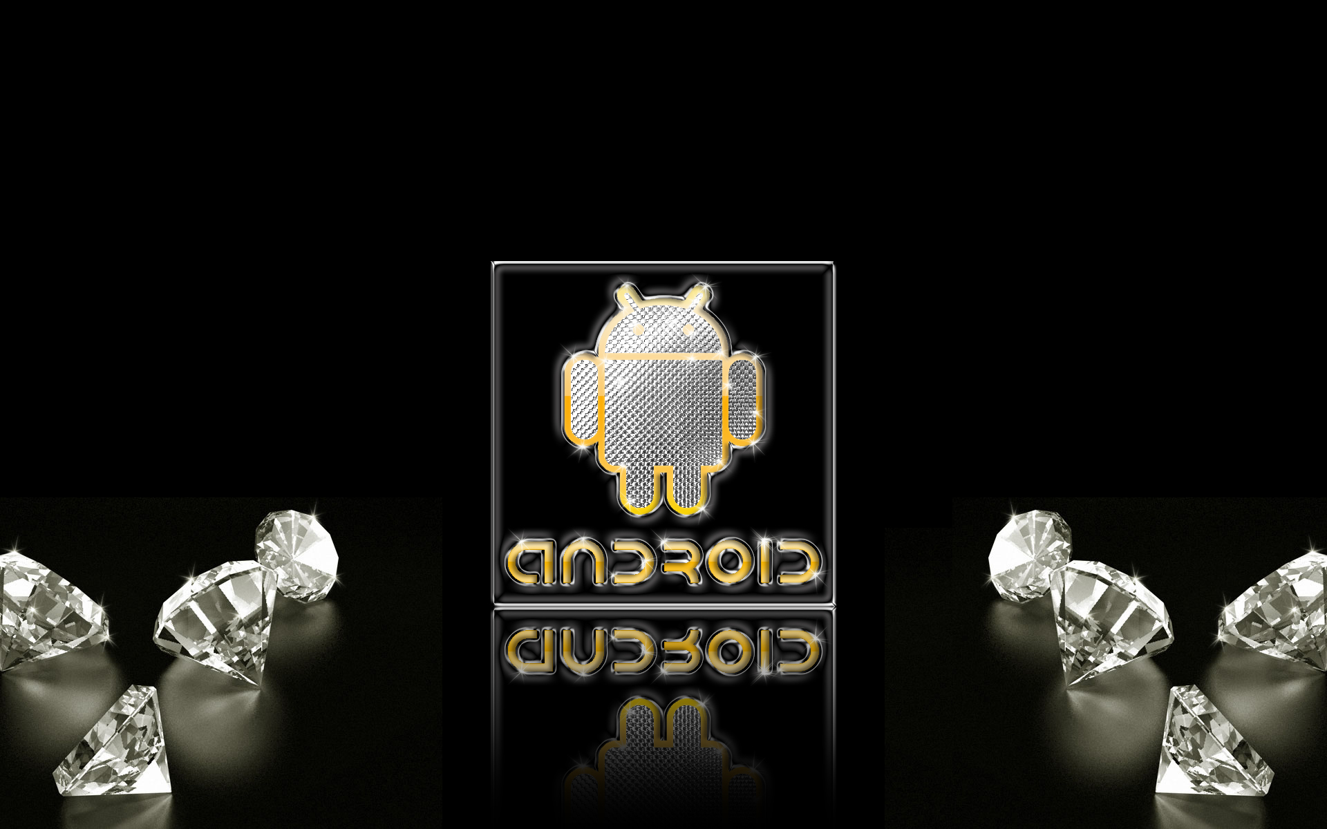 android gold silver diamonds w by deviantsith
