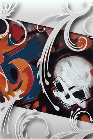Skull Graffiti iPhone Wallpaper