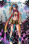 Rikku Flo iPhone wall